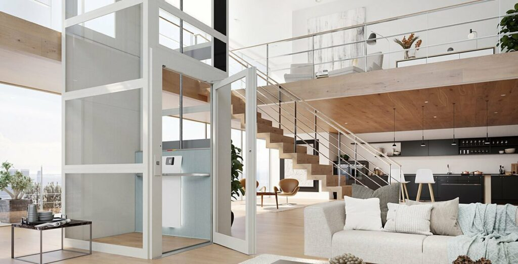 Residential lift in penthouse apartment