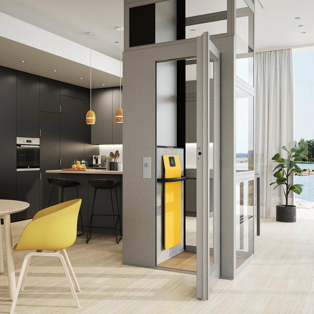 Home Lift In Beach Villa