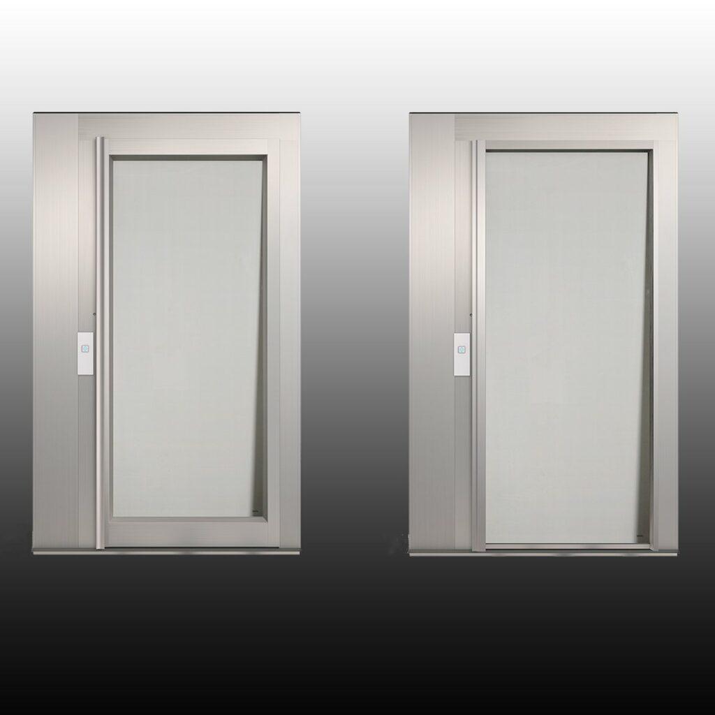 Puertas de aluminio para ascensor exterior