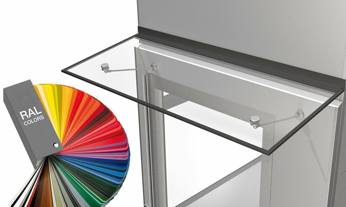 Door canopy in any colour