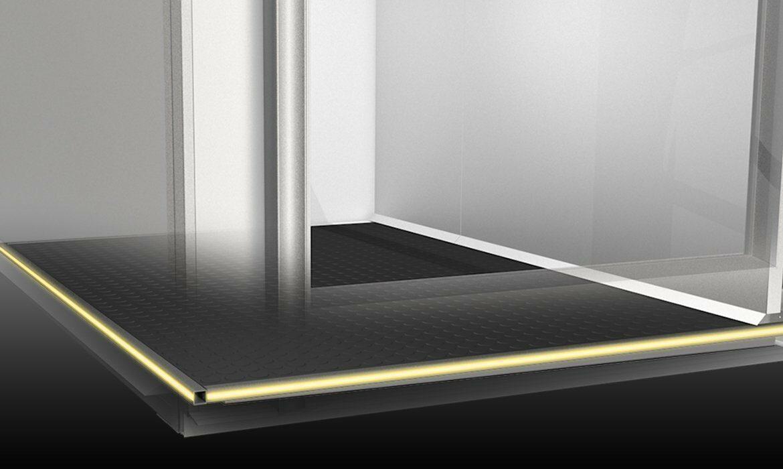 LED lit safety edges