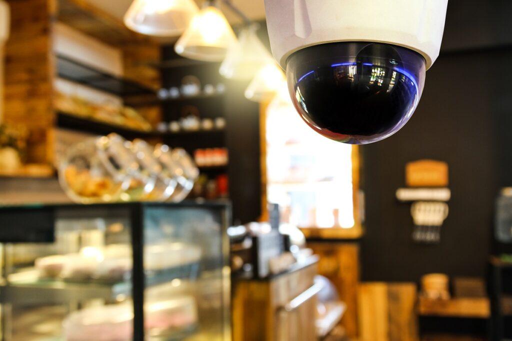 CCTV in a shop