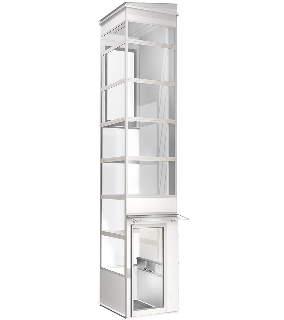 ascensor exterior resistente a la intemperie