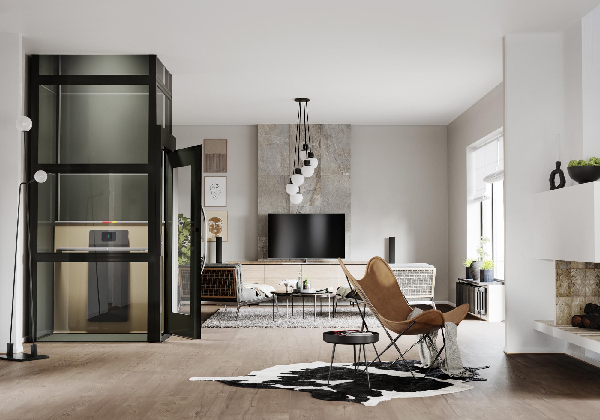 Huislift met ontwerpvrijheid