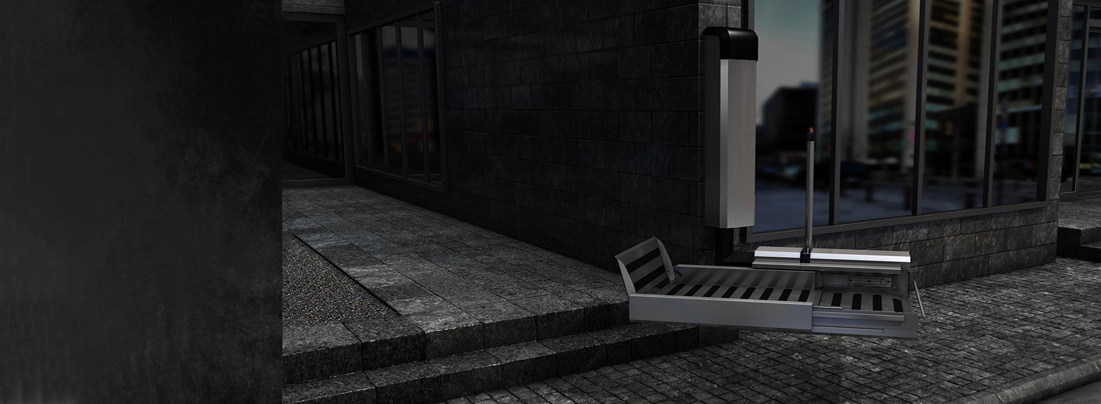 Folding stairlift