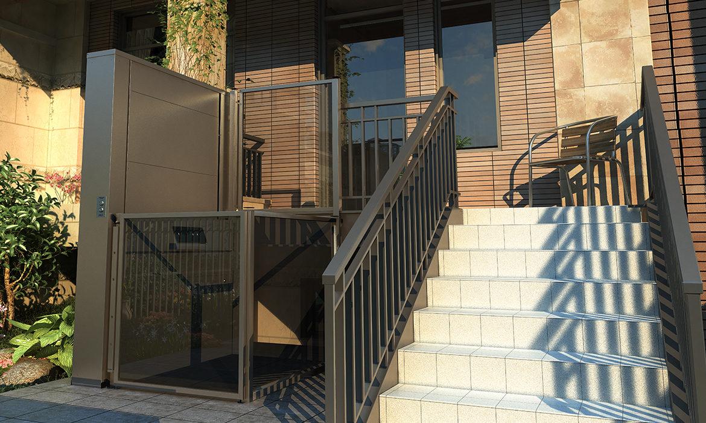 Open style vertical platform lift