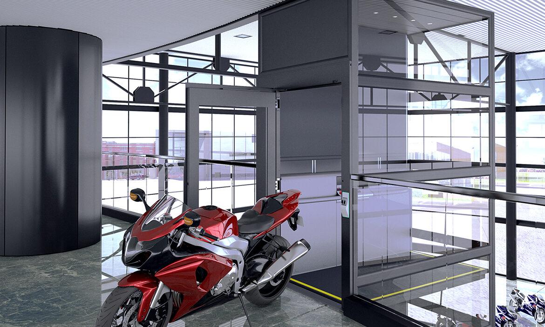 Plattformshiss hos motorcykelhandlare