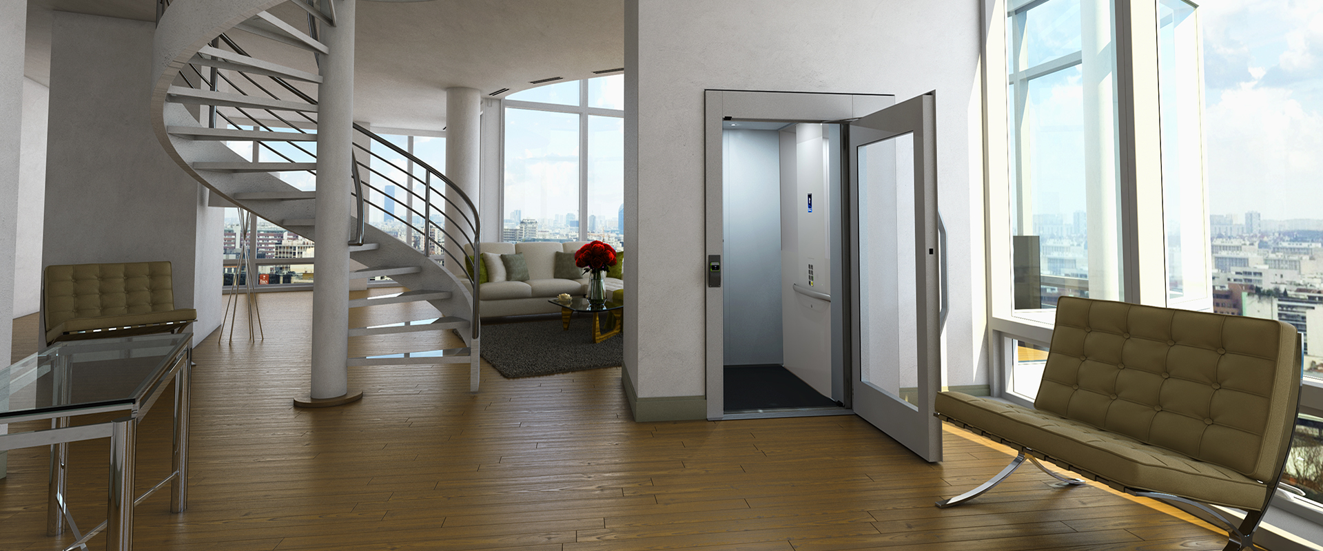 Domestic Lift In Luxurious Duplex Apartment