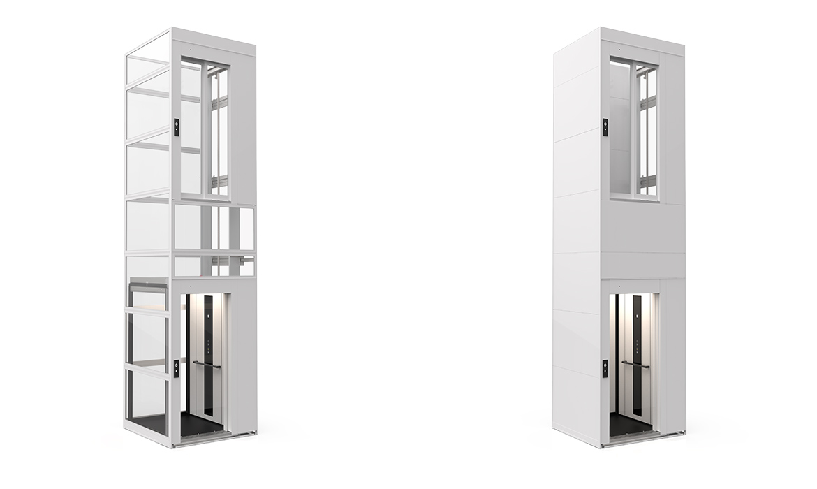 Domestic lift with modular shaft
