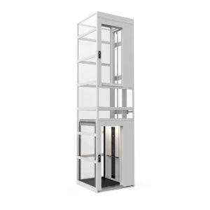 Cabin lift with modular shaft