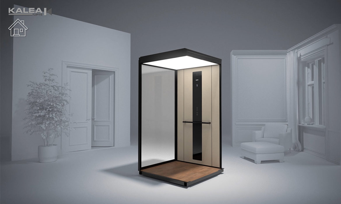 Revolutionary space-saving home lift