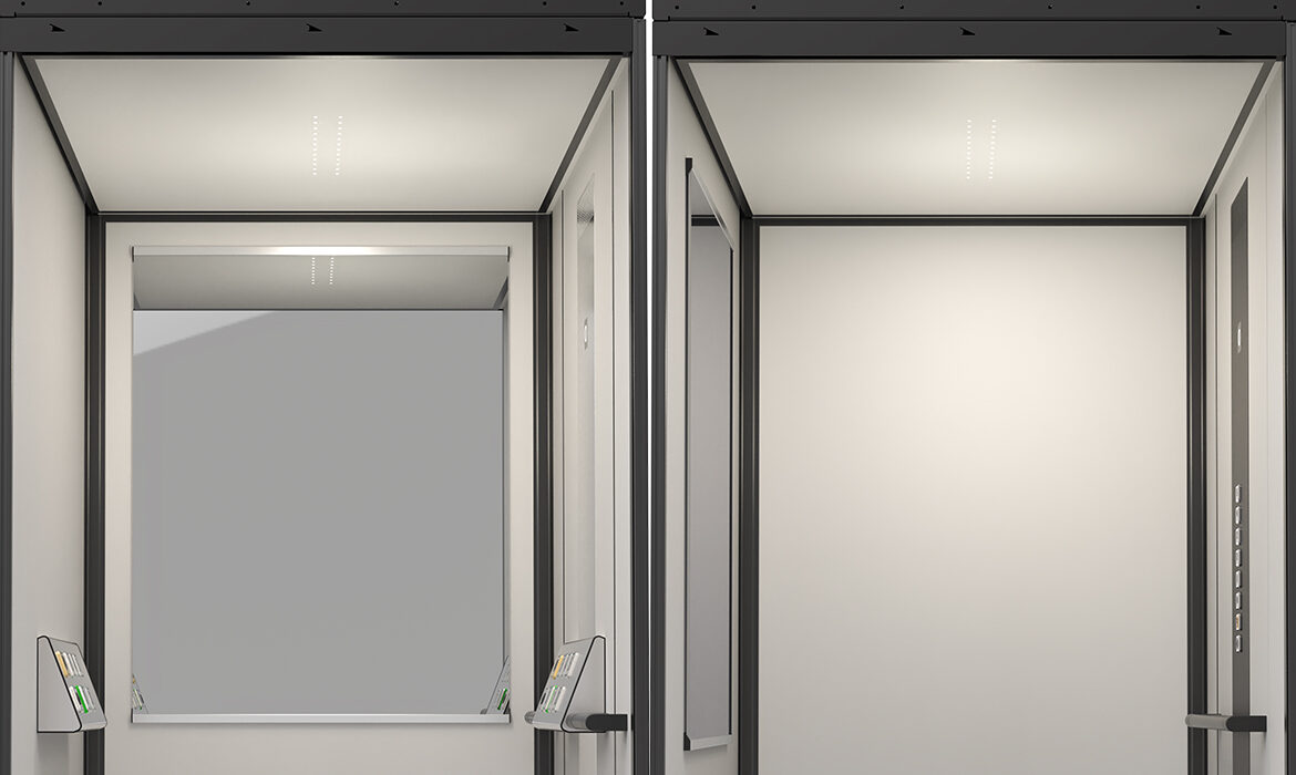 Mirror options for the lift cabin