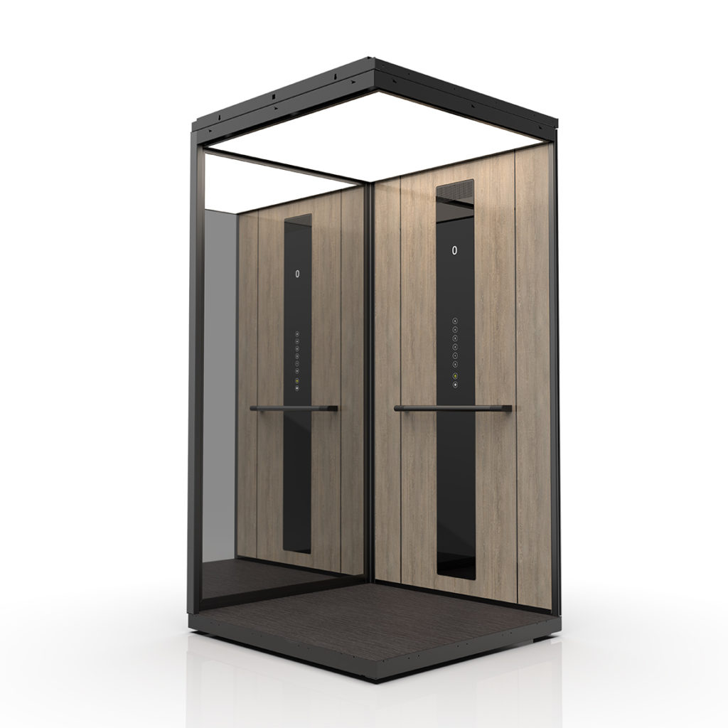 Premium cabin lift in wood laminate