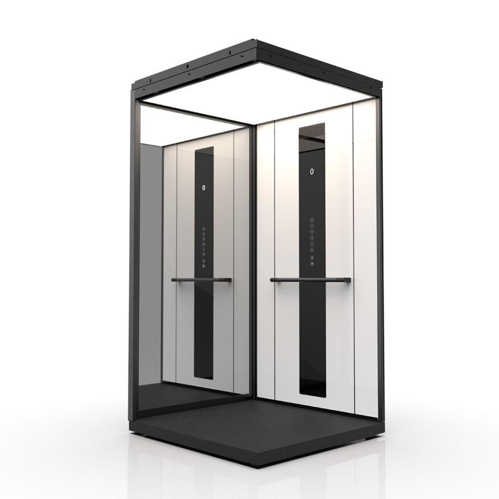 Premium cabin concept in white laminate walls