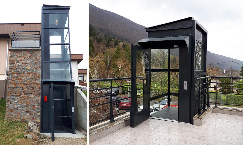 Black outdoor lift