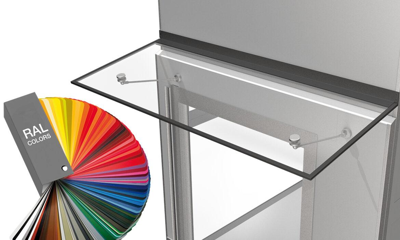 Door canopy for lift doors