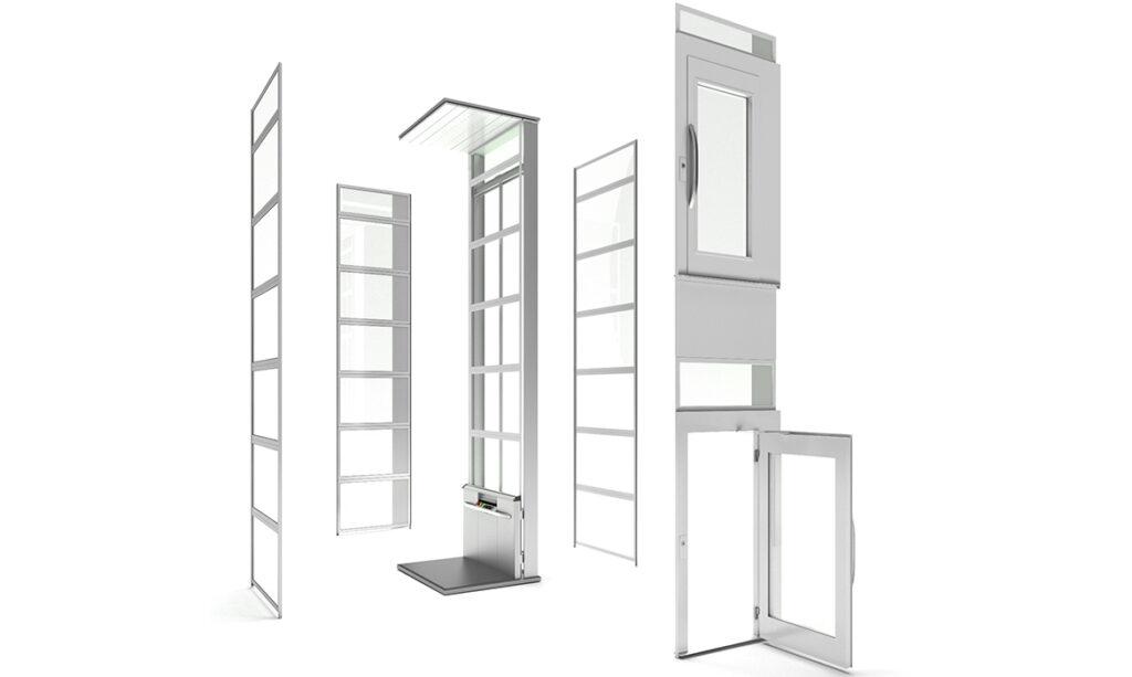 Modular lift for outdoor installation
