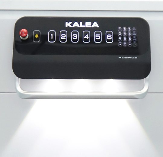 Control panel with touchscreen