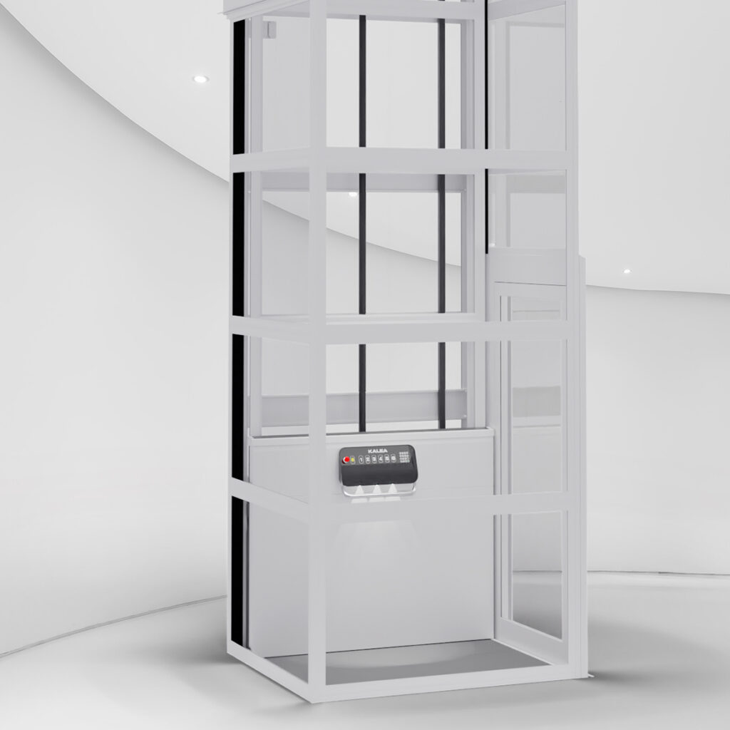 Lift with integrated machine room